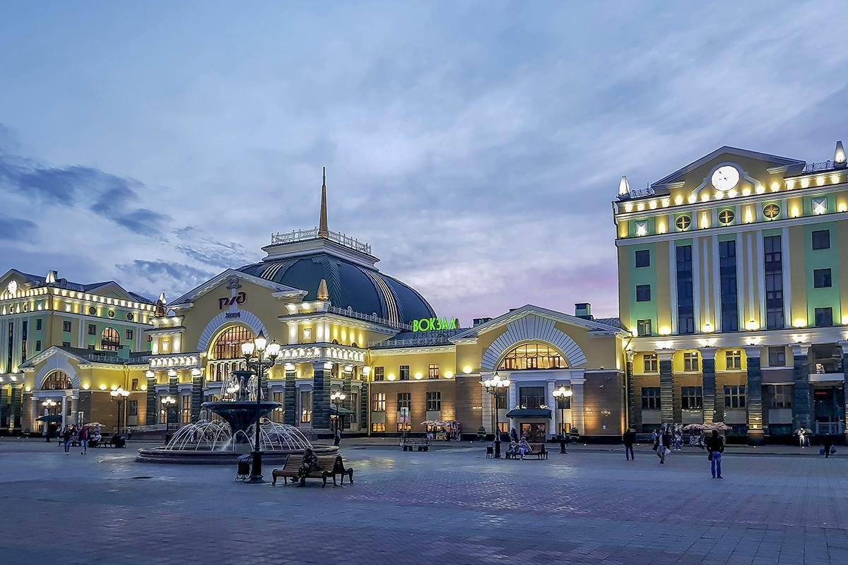 Красноярск, жд вокзал